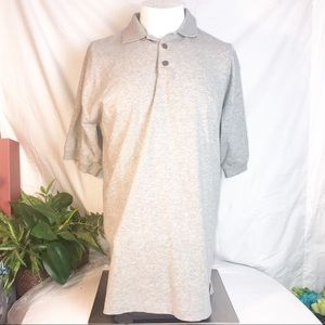 Tommy Bahama men's M POLO light gray cotton shirt